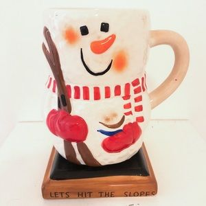 S'mores Ski Lets Hit the Slopes Snowman Coffee Mug
